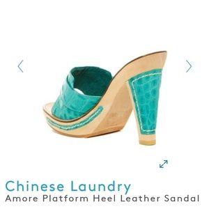 Chinese Laundry Shoes - NIB Chinese Laundry Amore Platform Leather Sandal